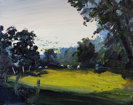 'Twilight, Morwick' oil, 30 x 24 cm, - Rowley Gallery