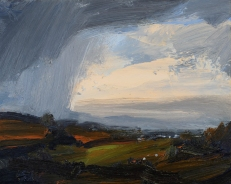 'Autumn Rain' oil, 24 x 30 cm - Denise Yapp