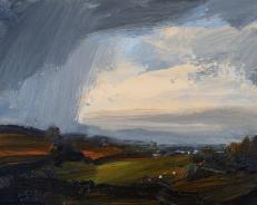 'Autumn Rain' oil, 24 x 30 cm - Denise Yapp