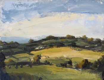 'Across The Valley' 35 x 45 cm - Denise Yapp