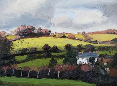 'Winter Light' oil, 30 x 40 cm - Denise Yapp