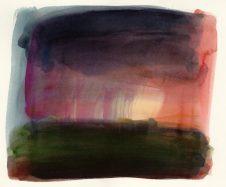 Landscape No. 17 watercolour, 22 x 26 cm