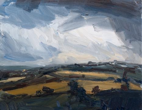 'Rainy August' oil on canvas, 50 x 40 cm
