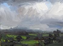 'Spring Rain' oil on canvas, 30 x 40 cm